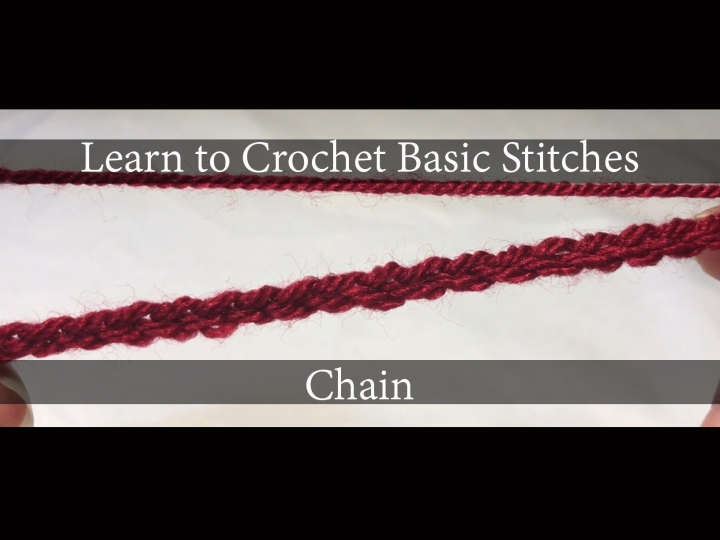 Learn to Crochet Basic Stitches Series – Chain Stitch