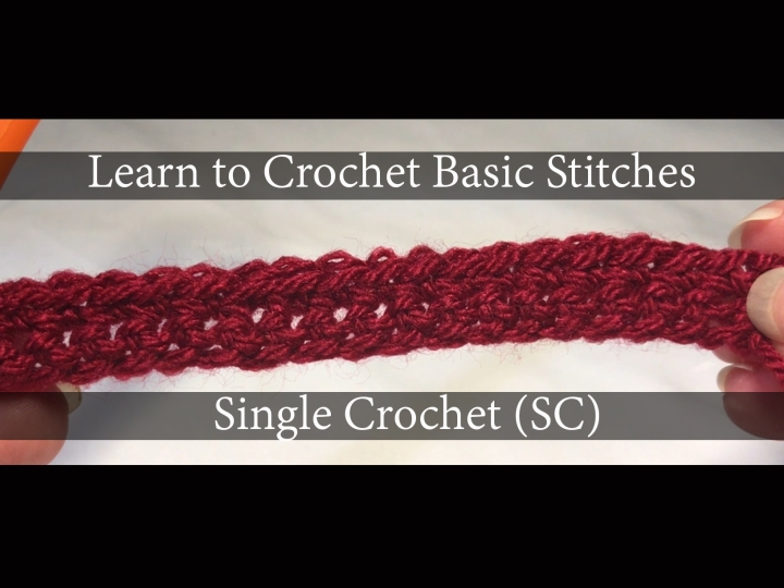 Learn to Crochet Series Video Two – SingleCrochet